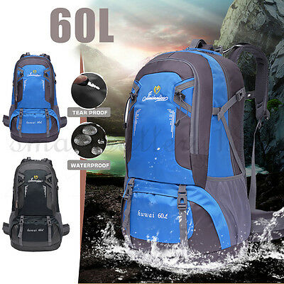 Outdoor Large Rucksack 60L Travel Bag Camping Hiking Backpack Luggage Trekking