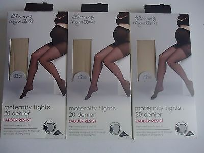 3 Pairs of Large Mothercare Maternity Tights RRP £12.00 each Colour nude BNWT