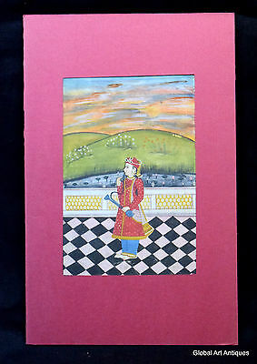 Rare Hand Painted Fine Decorative Collectible Indian Miniature Painting. G77-18
