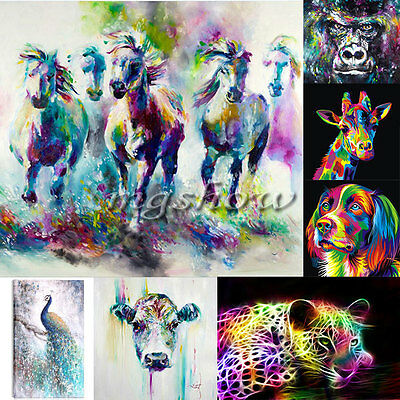 Peacock Horse Unframed Canvas Prints Modern Home Decor Wall Art Picture Room Dog