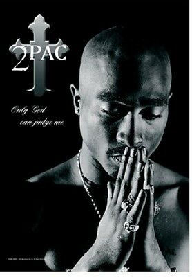 Tupac Only God Can Judge Music  Flags Wall Hanger Made In Italy Licensed  L 751