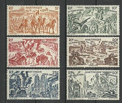 Complete set 6 new stamps* French MARTINIQUE 1946 From Chad to the Rhine (4347)