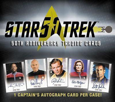 Star Trek 50th Anniversary William Shatner Captains Autograph Card