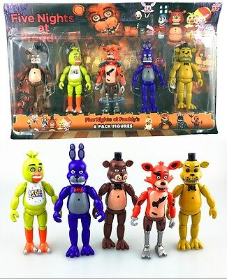 Five Nights at Freddy's Doll FNAF Action Bonnie Chica Foxy Bear Figures Set Toys