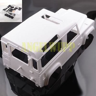 RC 1/10 Crawler White Land Rover D90 Body Set for AXIAL SCX10 RC4WD with details