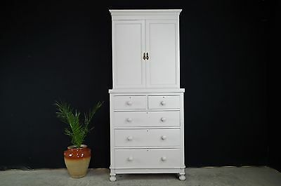 Antique Georgian/Victorian Linen Press/Large Drawers/Kitchen Larder/Armoire/Hall