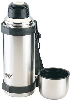 Draper 89312 Stainless Steel 1 Litre Vacuum Flask Camping / Working new