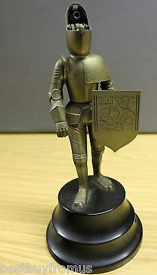 Vintage Musical Table lighter German metal Armour Knight Child resistant Lighter