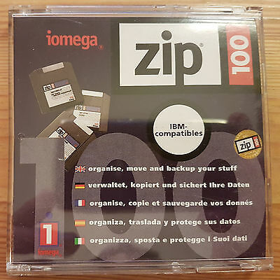 Iomega Zip 100 New Blank Disk PC Formatted (can be reformatted for Macintosh)