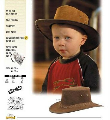 Barmah Kids Toddler Lidz Akubra Style Bush Hat Sz 50 - 52cm Australian Made