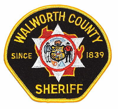 WALWORTH COUNTY WISCONSIN WI Police Sheriff Patch STATE SEAL ~