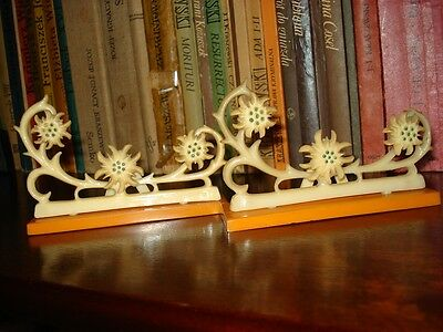 NICE ART DECO PHOTO FRAMES WITH EDELWEISS 2 pcs