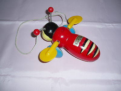 Vintage Buzzy Bee pull along Toy...circa 1950