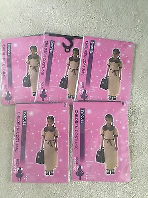 Fancy Dress Job Lot Wartime Evacuee Costume Girl 7 - 9