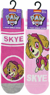 6 Pairs Girls Paw Patrol Skye Cotton Rich Ankle Socks
