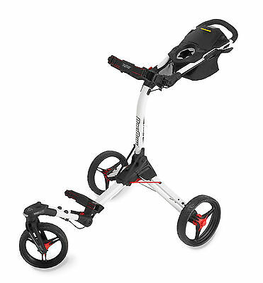 Bag Boy Tri-Swivel 2.0 3-Rad Golftrolley Farbe: White/Red Neu!