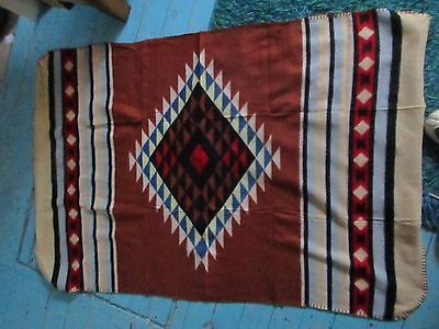 NATIVE AMERICAN INDIAN Throw baby BLANKET Made by Children from St. Labre School