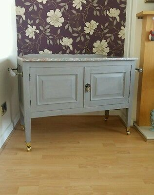 Antique Edwardian Painted Shabby Chic Wash Stand Collection Ramsgate Kent