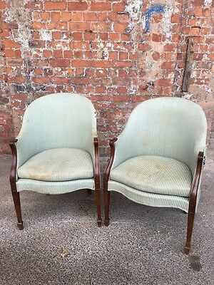 Pair Of Antique Early 20Th Century Salon Tub Chairs - Armchairs For A Project