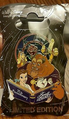 2016 Destination D D23 Beauty and the Beast 25th Anniversary Pin WDI LE 250