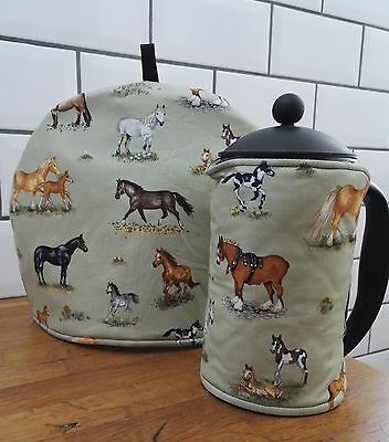 Horse Pony Tea Cosy or Cafetiere Cosy - select cafetiere size