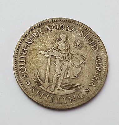 1932 - Silver - Shilling - South Africa - King George V - Rare Coin