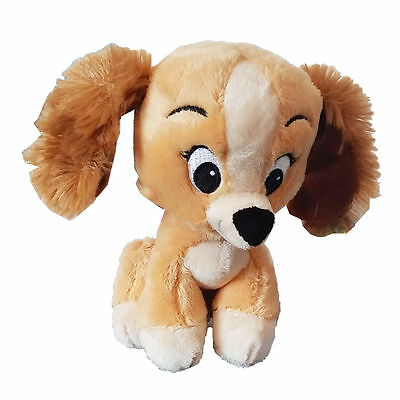 New Disney Animal Tales Cute Lady & The Tramp 8 Inch Lady Soft Plush Toy