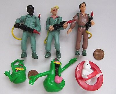 Vintage Yolanda The New Ghostbusters Pvc Plastic Figures 1980's Set X6 Cartoon
