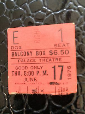 Diana Ross Ticket Stub From 6/17/76 At The Palace Theatre NYC