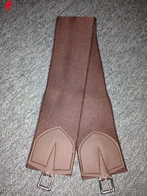 Elasticated girth strap brown BRAND NEW FREE POSTAGE (A42)
