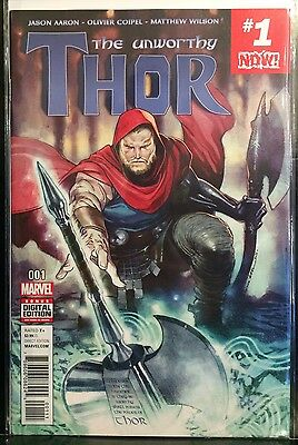 Unworthy Thor #1 NM- 1st Print Free UK P&P Marvel Comics 2016