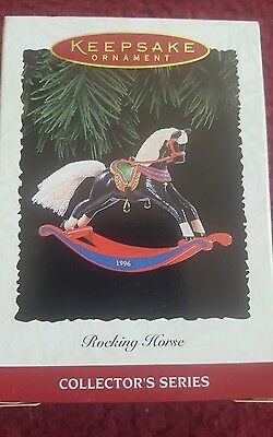 1996 Rocking Horse #16- Hallmark Miniature Christmas Tree Ornament New in Box