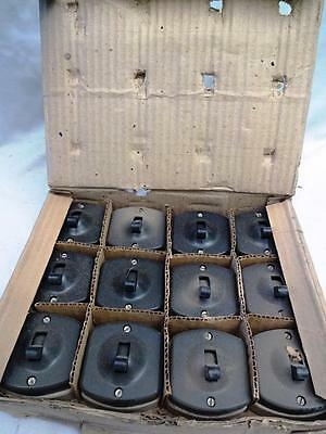 12 Pieces  Antique Bakelite  Electric Switches With Original Box Rare Genuine #7