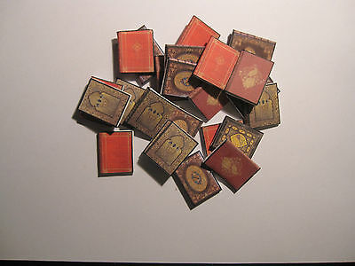 4 Dolls House Miniature  Books Set 1Aa