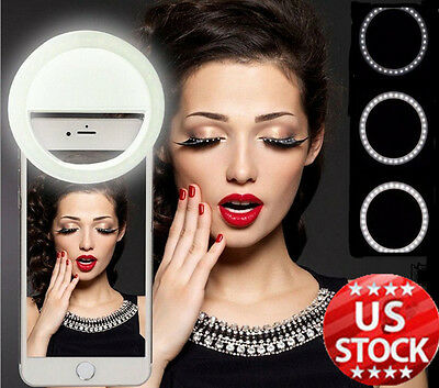 Rechargeable Selfie Portable 36 LED Ring Fill Light for iPhone Samsung Huawei LG