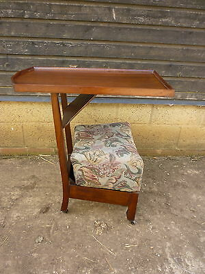 Early 20th century Metamorphic chair table padded seat with storage beneath