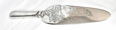 Antique Tuck Chang Chinese Export Silver Pastry Server Late 19th C