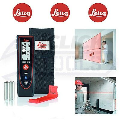 LEICA Disto D110 60m/196ft Bluetooth Laser Pointer Digital Distance Tape Measure