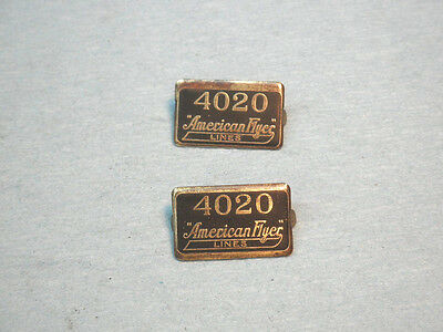 "American Flyer ""4020"" Brass Plates for Standard gauge Stock Cars"