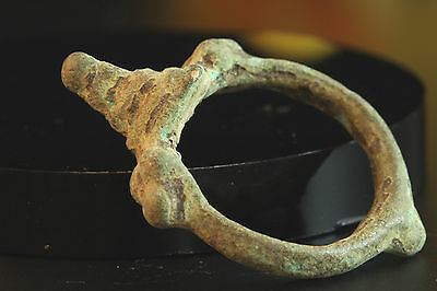 RARE!! UNIQUE!! 3000 + YEARS OLD BRONZE AGE BACTRIAN RING. Size: US 7