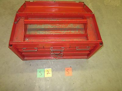 Metal Stack-On Tool Box 6 Drawer Chest Red Machinist Military Tray Used S-2-S