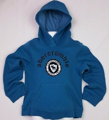Girls A&F Abercrombie & Fitch Blue Applique Logo Grapic Hoodie Age 5-6 Yrs BNWT