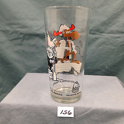 VINTAGE 1976 Arby's Bicentennial Collector Glass-Bullwinkle crosses the Delaware