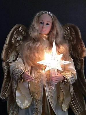 ANIMATED CHRISTMAS ANGEL HOLIDAY CREATIONS  LIGHTED MOTION-Etta Christmas 24""