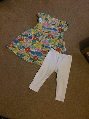 Girls 2 piece Tunic Top From Next Leggings Cropped From Primark Age 4-5yrs