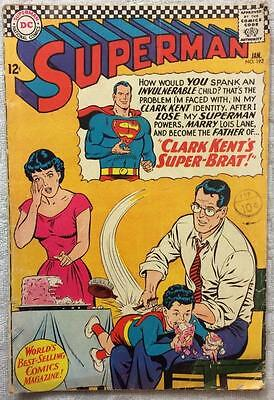 Superman #192 (1966 DC 1st series) VG- condition 50 yrs old Silver Age