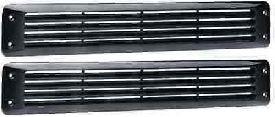 Four Winns Bilge Boat Exhaust Vent Louver Marine Black Pair