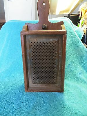 Vintage Food Grater in wooden box w/drawer