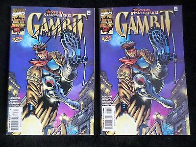 Gambit #25 (Vol.2 1999) Key Double-Sized Final Issue x 2! Regular & Signed! VF