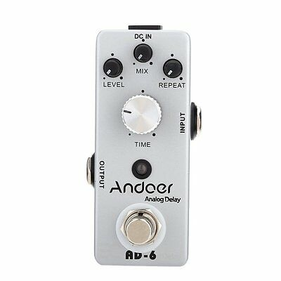 Andoer TC-31 AD-6 Analog Delay Pedale True Bypass